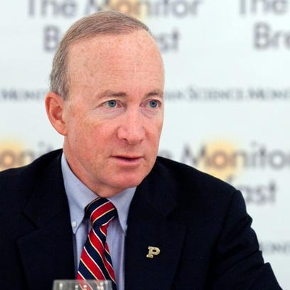 Purdue University President Mitch Daniels could earn up to $630,000 next year.