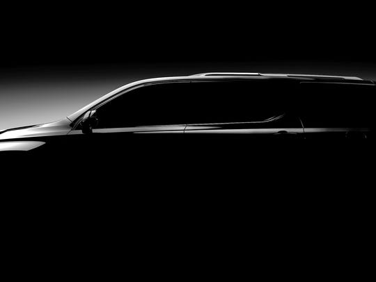 Teaser photo of the 2018 Chevrolet Traverse. It will