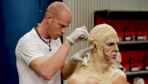 """""""Face Off"""" contestant Rick Prince will demonstrate special effects makeup and prosthetics on The Tennessean's Beth Inglish."""
