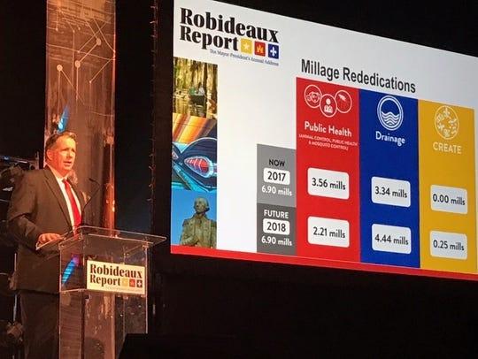 Lafayette Mayor-President Joel Robideaux presented