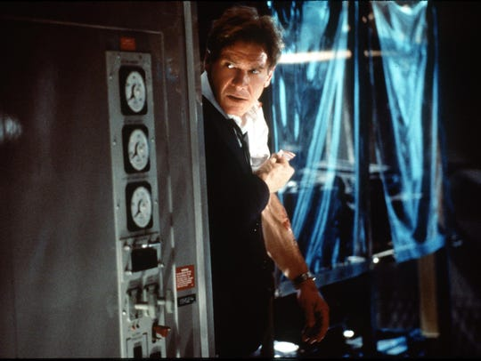 "Harrison Ford as the president of the United States in ""Air Force One."""