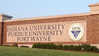 Indiana University-Purdue University Fort Wayne sign.