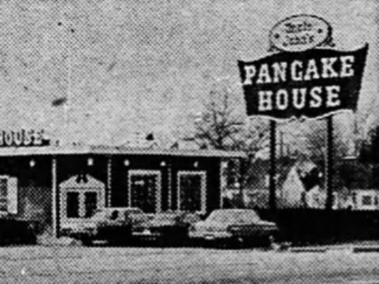 Uncle John's Pancake House was located on East Grand River Avenue near Frandor. Photo taken in 1965.