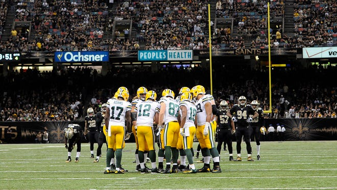 Green Bay Packers against the New Orleans Saints at the Mercedes-Benz Superdome.