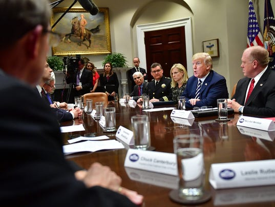President Trump holds a law enforcement roundtable on sanctuary cities at the White House