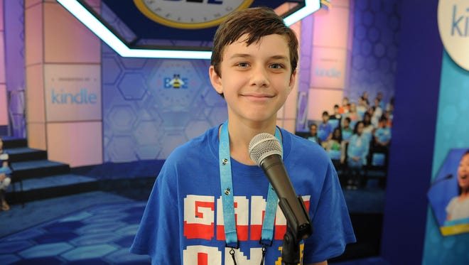 Michael Goss of Crowley is Speller 96 in the annual Scripps National Spelling Bee.