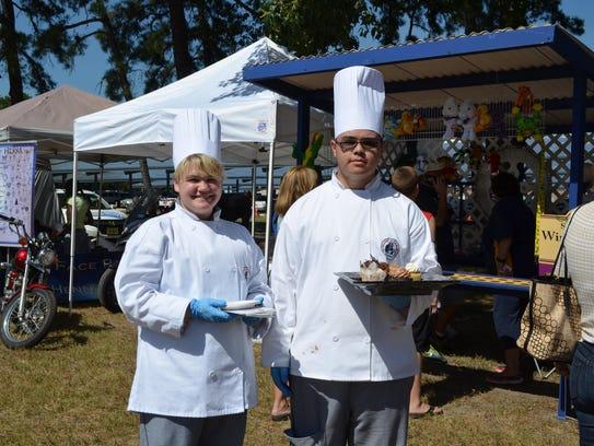 Grayson Genter of Egg Harbor City and Peter Lugo of