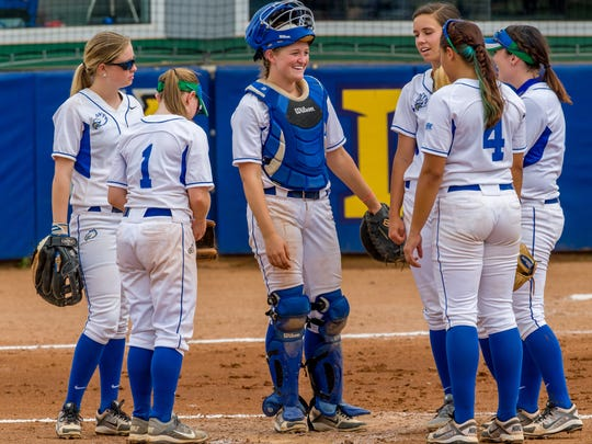 Sharply improved play at catcher from sophomore LuLu Newmark and junior Bree Tourtillott has aided FGCU's turnaround.
