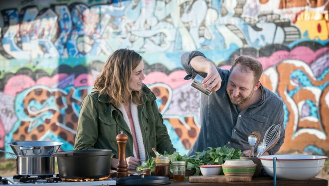 Sur La Table National Chef Joel Gamoran cooks with Asheville's Katie Button in the new show, SCRAPS.