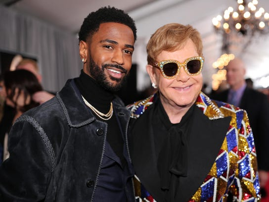 Detroit rapper Big Sean and Sir Elton John attend the