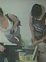 Local law enforcement agencies are seeking a man and woman suspected of a purse snatching and vehicle theft.