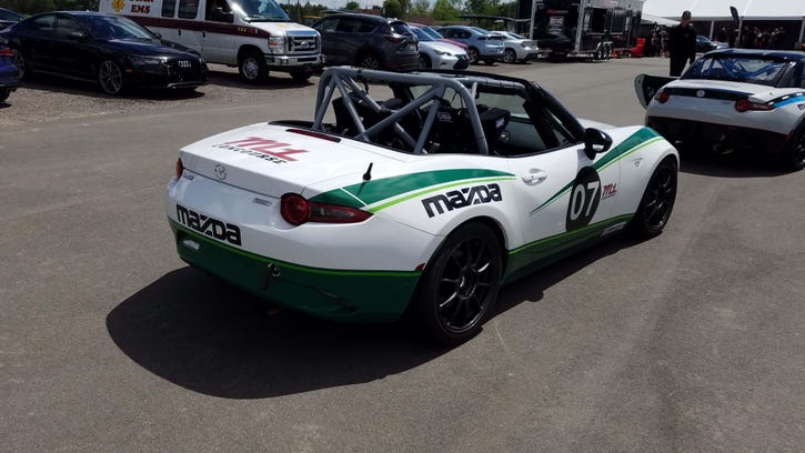 Payne: At speed in (wee) Mazda Miata Cup racer
