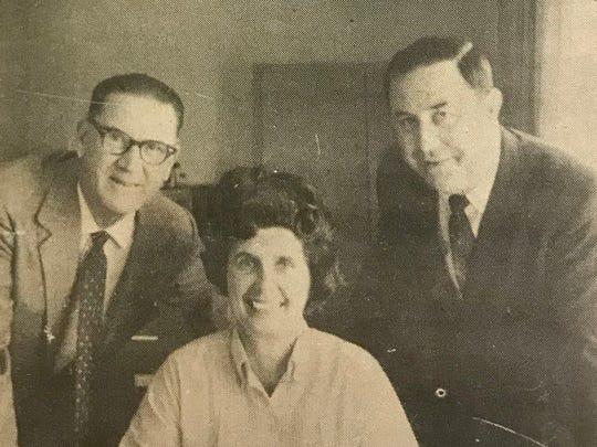 From left: Raymond Henle, Jane Hamlin and William Tamplin.
