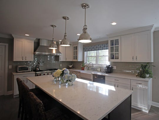 This is a view of a custom designed kitchen at Paul