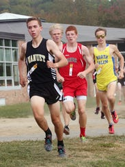 From left, Nanuet's Ryan Guerci on his way to winning