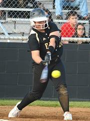 Abilene High's Sydnee Killam rips a two-run double