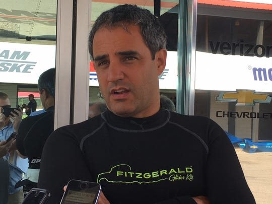 IndyCar driver Juan Pablo Montoya said he was pleased