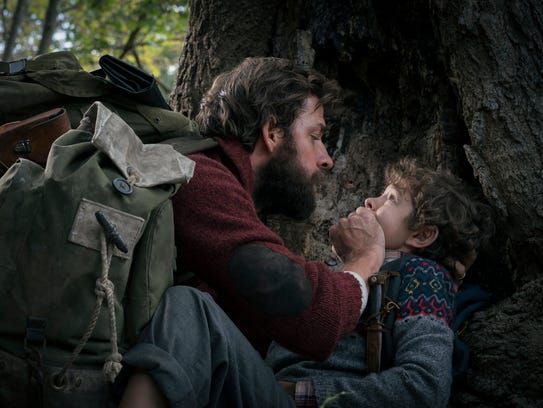 "Lee (John Krasinski) keeps Marcus (Noah Jupe) in ""A"