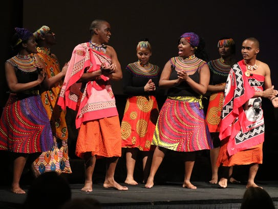 """""""The Swazi Performance,"""" featuring dancers from South"""