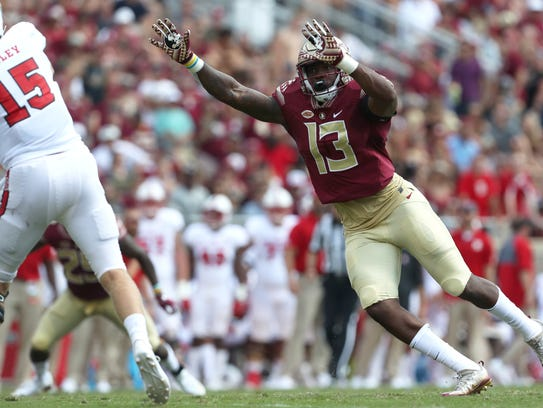 Rising sophomore Joshua Kaindoh should see a lot more playing time as a sophomore for Florida State.
