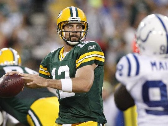 Is the look on his face really one of the things that separates the Green Bay Packers' Aaron Rodgers from Matthew Stafford?