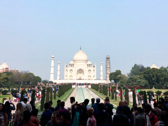 This 2017 photo shows India's Taj Mahal in Agra. India's