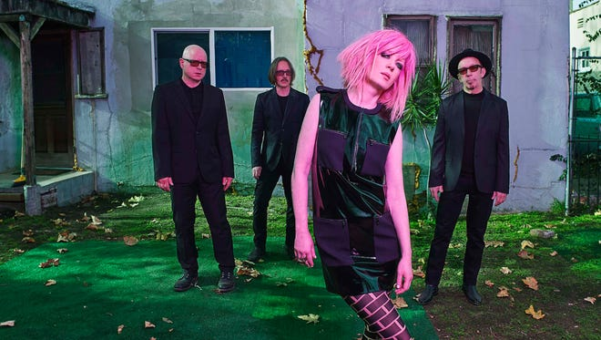 Garbage plays the Count Basie Theatre in Red Bank with Blondie on Friday.