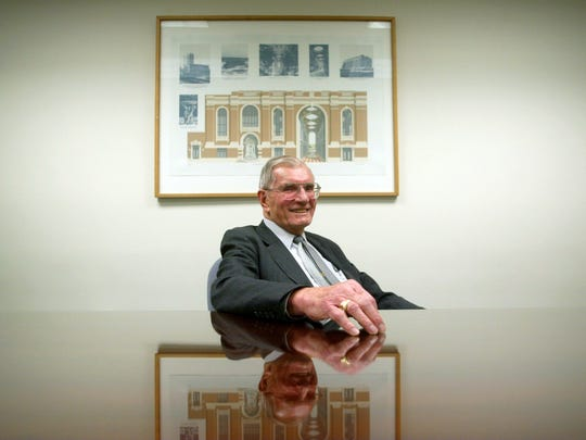 John Heldrich, founding chairman of New Brunswick Tomorrow and retired Johnson & Johnson executive, in 2005 in the conference room at his New Brunswick office.