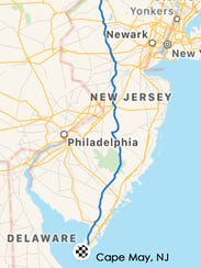 A look at the route of Central Jersey Bike Riders'
