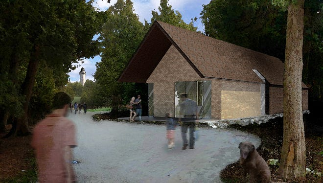 Artist rendering of the proposed Cana Island welcome center
