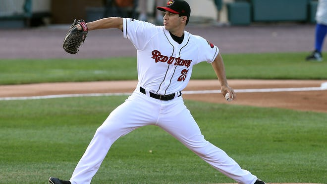 Red Wings starter Tommy Milone pitched a shutout with 13 strikeouts and no walks in a 3-0 win over Durham on May 18, 2015.