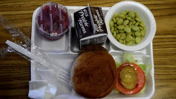 Lunch for one student at Thames Elementary School