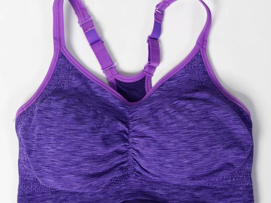 Old Navy ruched seamless sports bra is super comfortable  and still gets the job done.