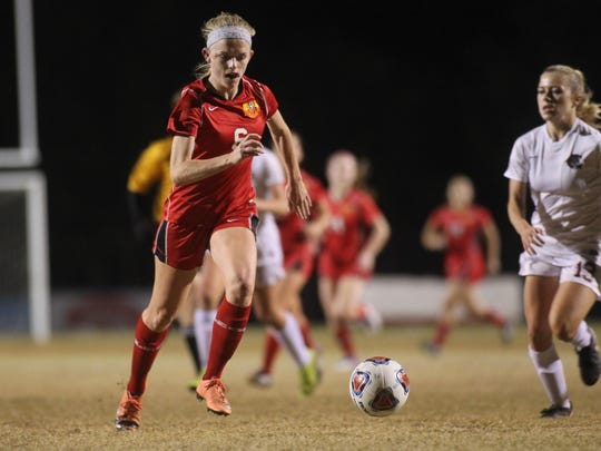 Leon midfielder/forward Maddie Powell is off to a hot start to her senior season, scoring seven goals already for the Lions (4-0-1).