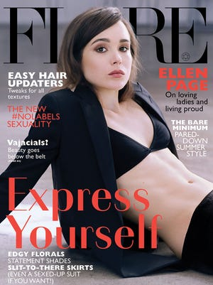 Actress Ellen Page 'Flare' magazine.