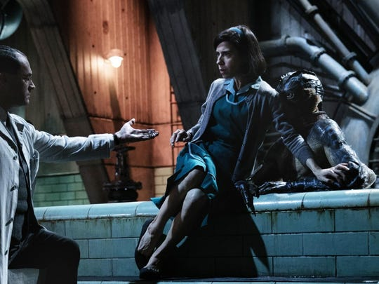 """Sally Hawkins plays a janitor who is protective over an amphibious creature known as The Asset in """"The Shape of Water."""""""