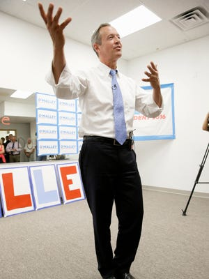 Democratic presidential candidate, former Maryland Gov. Martin O'Malley, speaks during the opening of his Cedar Rapids Field Office, Wednesday, Aug. 5, 2015, in Cedar Rapids, Iowa.