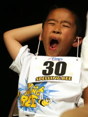 Andy Ho, representing Lundy Elementary School, tries
