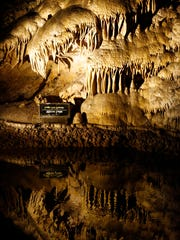 This is one of the many caves that visitors can experience while visiting Carlsbad Caverns National Park.