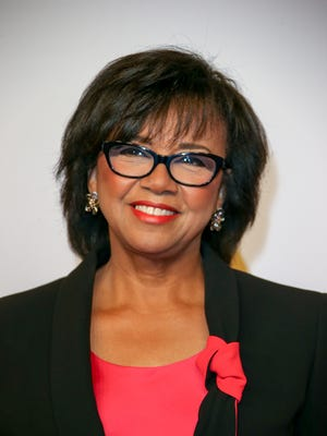Cheryl Boone Isaacs, president of the Academy of Motion Picture Arts and Sciences, arrives Feb. 8, 2016, at the 88th Oscars Nominees Luncheon  at the Beverly Hilton Hotel in Beverly Hills.