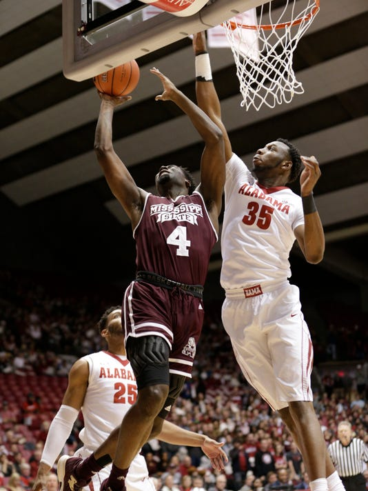 NCAA Basketball: Mississippi State at Alabama