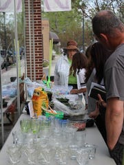 People had the chance to make their own terrarium outside of the Noyes Shop on Thursday evening.