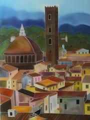 Silk painter Natasha Foucault exhibits her work in
