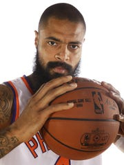 Tyson Chandler during Phoenix Suns Media Day on Sep.