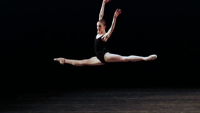 """Wendy Whelan in  George Balanchine's """"Agon"""" with the New York City Ballet."""