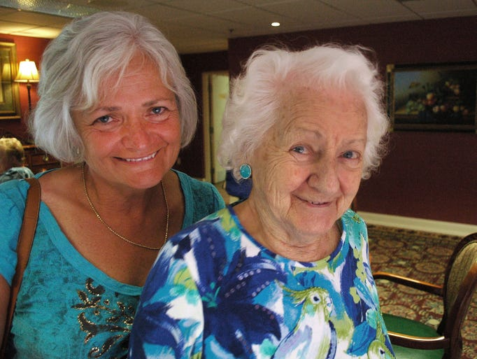 Ruth Bumgardner, 93, with daughter Jan Woodard, 58, at the 30 th anniversary celebration of Park Place senior living community on Wednesday, June 25, 2014 in Hendersonville. Bumgardner lives at Park Place.