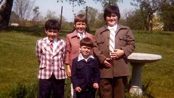 The author (right) and his brothers in the late 1970s in their Easter best.
