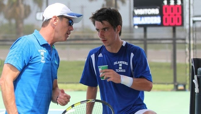 Texas A&M-Corpus Christi Director of Tennis Steve Moore, left, signed a contract extension, the school announced on Thursday.