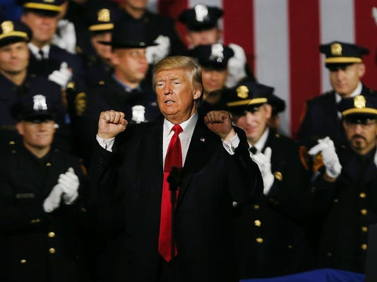 Donald Trump Addresses Members Of Law Enforcement On Long Island