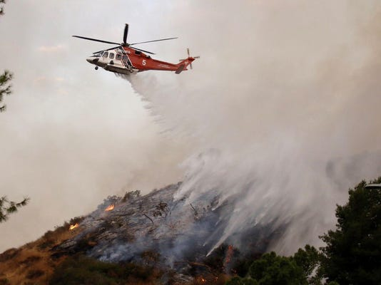 LA declares emergency as wildfire burns out of control